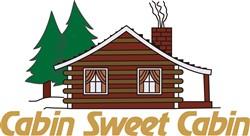 Cabin Sweet Cabin print art