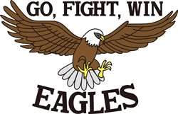 Go, Fight, Win Eagles print art