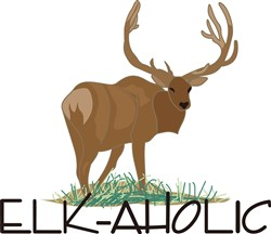 Elk-aholic print art
