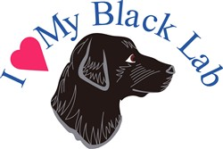 I Love My Black Lab print art
