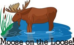 Moose on The Loose print art