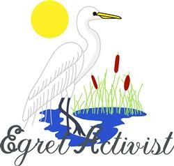 Egret Activist print art