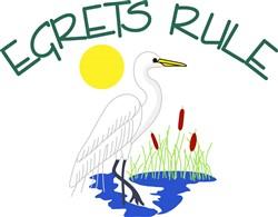 Egrets Rule print art