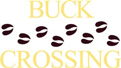 Buck Crossing print art