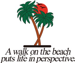Walk on the Beach print art