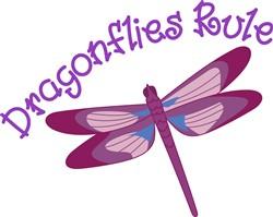 Dragonflies Rule print art