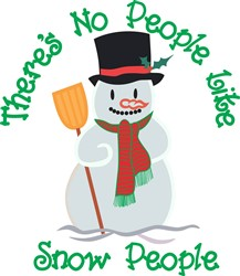 No People Like Snow People print art