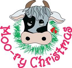 Moo-ry Christmas print art