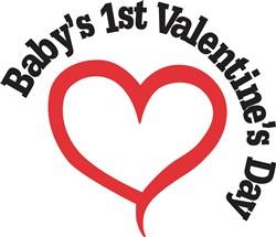 Babys 1st Valentines Day print art