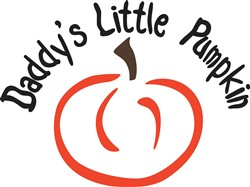 Daddys Little Pumpkin print art