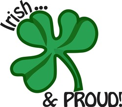 Irish & Proud print art