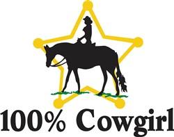 100% Cowgirl print art