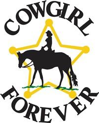 Cowgirl Forever print art