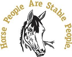 Stable People print art
