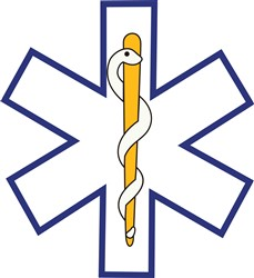 Star of Life Outline print art