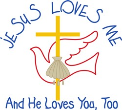 Jesus Loves Me print art