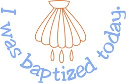 I was Baptized Today print art