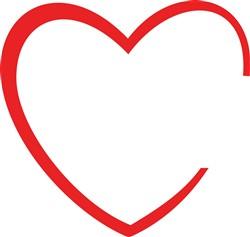 Heart Outline print art