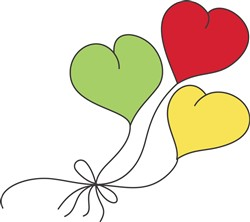 Small Heart Balloons print art