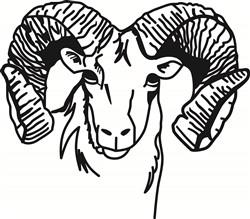 Rams print art