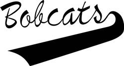 Bobcats Lettering print art