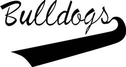 Bulldogs Lettering print art