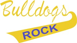 Bulldogs Rock print art