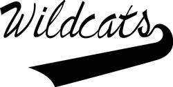 Wildcats Lettering print art