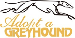 Adopt a Greyhound print art