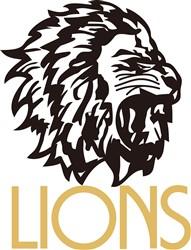 Lions print art