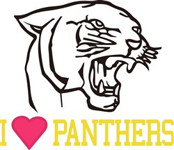 I Love Panthers print art