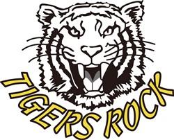 Tigers Rock print art