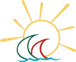 Sailboats in the Sun print art