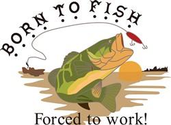 Born to Fish print art