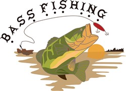 Bass Fishing print art