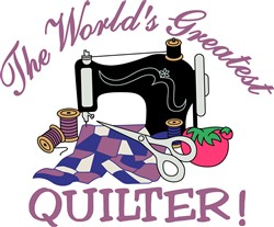 The Worlds Greatest Quilter print art