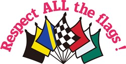 Respect All the Flags print art