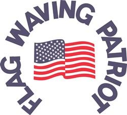 Flag Waving Patriot print art