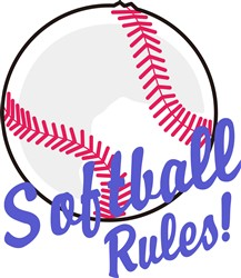 Softball Rules! print art