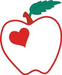 Love Apple Applique print art