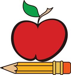 Apple and Pencil print art