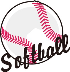 Softball print art