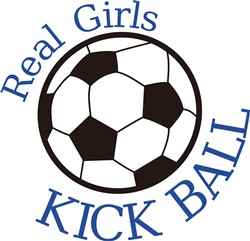 Real Girls Kick Ball print art
