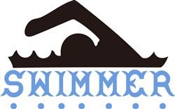 Swimmer print art