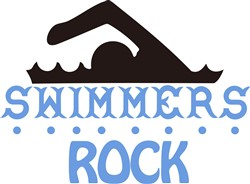 Swimmers Rock print art