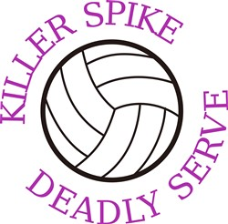Killer Spike, Deadly Serve print art