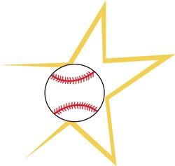 Baseball Star print art