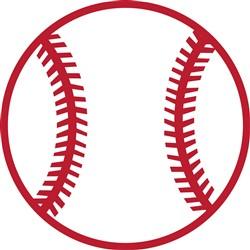 Baseball Applique print art