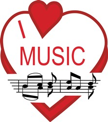 I Love Music print art