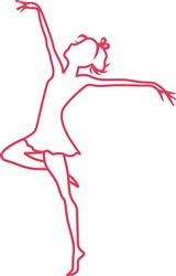 Tall Dancer Outline print art